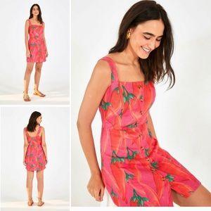 Farm Rio | Apimenta Red Pepper Linen Mini dress XS